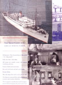 (11) Clippings, Photos  1934 Great White Fleet Cruise Ship Interior Design