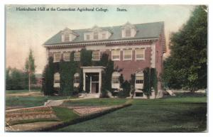 Horticultural Hall at the Connecticut Agricultural College, Storrs, CT Postcard