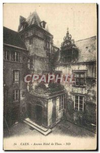 Old Postcard Old Hotel Caen Than