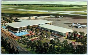 TULSA MUNICIPAL AIRPORT, Oklahoma OK   New TERMINAL BUILDING 1963  Postcard