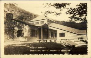 White Mountains NH Valley Station Cannon Mtn Real Photo Postcard