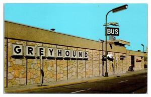 1950s/60s Greyhound Bus Terminal, Minneapolis, MN Postcard