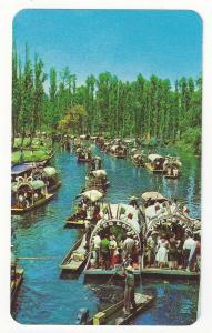 Mexico Xochimilco Floating Gardens Trajineras Boats Postcard