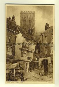 tp6979 - Yorkshire - Artists Impression of Mucky Peg Lane, in York  - Postcard