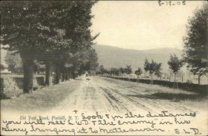 Fishkill NY Old Post Road c1905 Rotograph Postcard