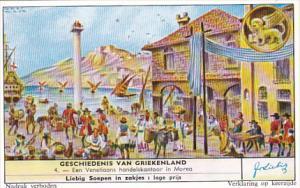 Liebig Trade Card s1744 History Of Greece No 4 En Venetiaans handelskantoor i...