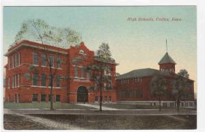 High Schools Colfax Iowa 1910c postcard