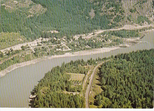 Canada British Columbia Aerial View Boston Bar In Fraser Canyon