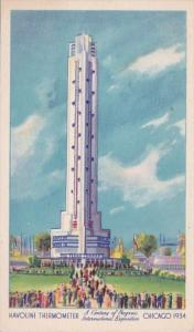 Chicago World's Fair 1933 The Havoline Thermometer