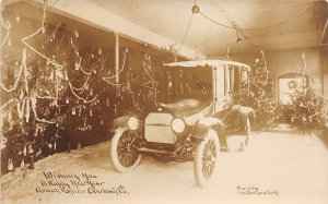 G89/ Grand Rapids Michigan RPPC Postcard c10 Overland Automobile Interior