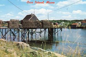 ME - Orrs Island, Lobster Traps on the Pier