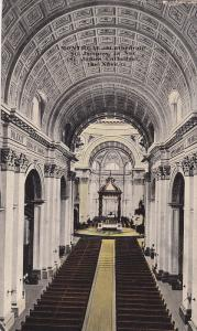 Interior view of st. James Cathedral, Quebec, Canada, PU-1917