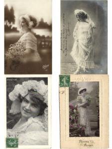 MODE FASHION, GLAMOUR, WEDDING DRESSES ROBE DE MARIÉE 28 REAL PHOTO CP (L3423)
