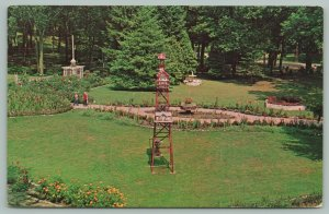 Camp Lake Wisconsin~Salvation Army Camp Wonderland~View of Garden~c1950 Postcard