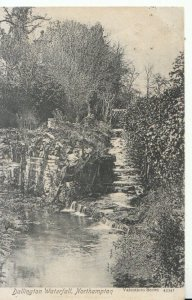 Northamptonshire Postcard - Dallington Waterfall - Ref 16717A