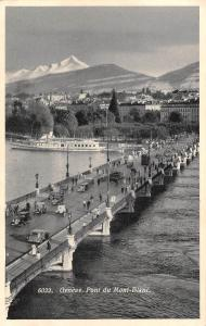 Switzerland Geneve Genf Pont du Mont-Blanc 1937