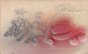 Pheasant Lobster and Fruit Embossed 1907