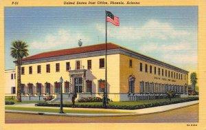 United States Post Office, Phoenix, Arizona, Early Postcard, Unused