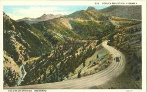 Corley Mountain Highway, Colorado Springs early 1900s unu...