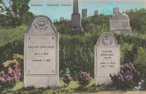 PLYMOUTH , Vermont , 1930s ; Cemetery