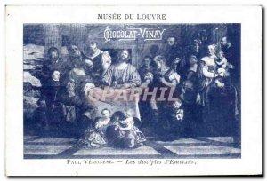 Musee Du Louvre Chromo Chocolat Vinay Paul Veronese Disciples dEmmaus