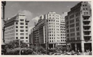 Recife Brazil Praca da Independencia Street Scene Real Photo Postcard J67789