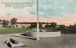 SAN DIEGO, California, 1900-10s; Ramona's Marriage Place and Flag Monument