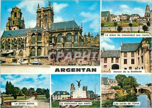 Modern Postcard Argentan (Orne) Place the memorial park The edges of the Orne