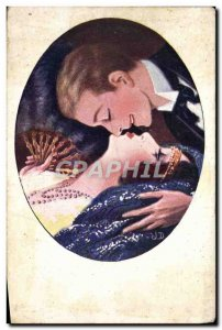 Old Postcard Fantasy Illustrator Woman Romance sans paroles