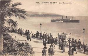 13165 Monaco  Monte Carlo     Les Terrasses Steamship  Tugboat guiding out