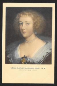 Portrait Princess of Orange Van Dyk Unused c1920s
