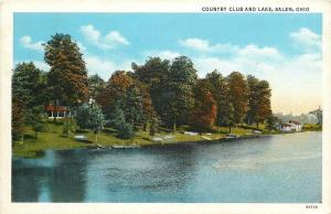 Salem Ohio~Country Club And Lake~1920s PC