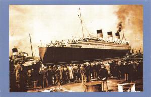 Nostalgia Postcard The Queen Mary Sails 24th March 1936 Ocean Liner Repro NS1