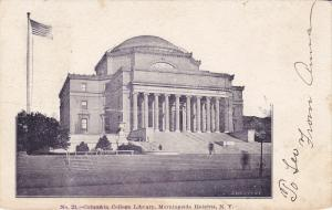 Exterior,  Columbia College Library,  Morningside Heights,   New York City,  ...
