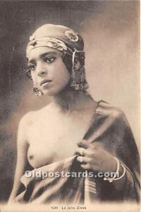 Arab Nude Postcard La Jolie Zineb Unused