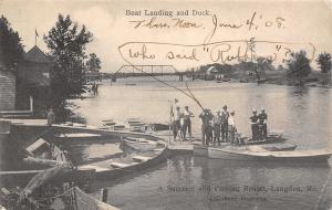 Langdon Missouri~Boat Landing and Dock~1908 Who Said Rubbers?