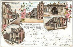 ARGENTINA -  Vintage Postcard - GRUSS AUS : BUENOS AIRES - PASEO DE JULIO