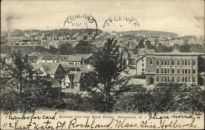 Woonsocket RI Sectional View From Social District c1910 Postcard