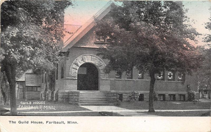 Faribault Minnesota~Guild House~Stone Arched Doorway~c1910 Postcard