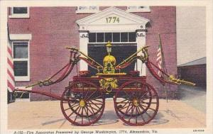 Virginia Alexandria Fire Apparatus Presented By George washington 1774