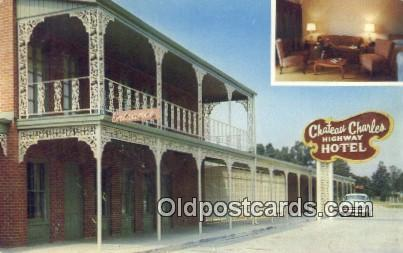 Chateau Charles Lake Charles Louisiana La Usa Hotel Postcard