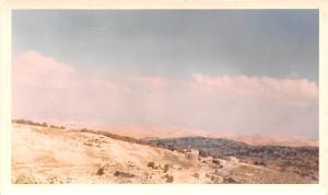 Jordan Old Vintage Antique Post Card View from hotel looking eastward towards...