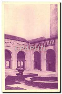 Old Postcard Tlemcen Court of the great mosque