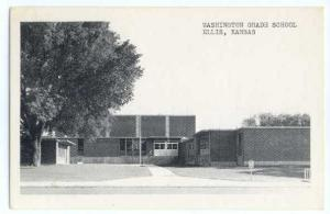 W/B View of Washington Grade School Ellis Kansas KS