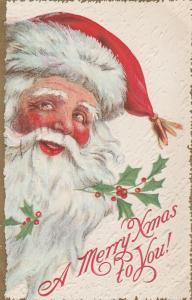 Merry Xmas from Santa Claus - Christmas Greeting - pm 1915 - DB