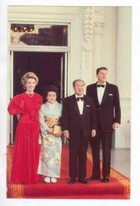 President Reagan & Nancy Hosting Japanese Prime Minister Zenko Suziki & His W...