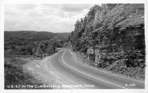 Cumberland Mountains Tennessee 1940s RPPC Photo Postcard Cline 5177