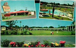 Savannah, GA Postcard HOWARD JOHNSON'S MOTOR LODGE Highway 17 Roadside c1960s