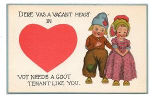 Dutch Kids Vacant Heart Needs Goot Tenant Like You Valentine