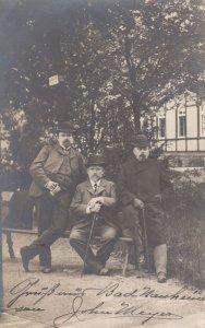 RP: BAD NAUHEIM, Hesse, Germany, 1903 ; 3 men